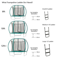 Load image into Gallery viewer, Skyhigh Deluxe Ladder for Large Trampolines 80cm High or more Wide Treads