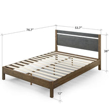 Load image into Gallery viewer, Zinus Stefan Double 12 in. Full Wood Platform Bed with Headboard