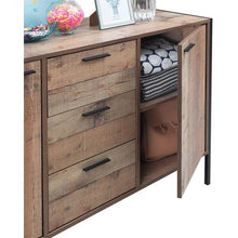 Load image into Gallery viewer, Stretton Sideboard 2 Doors 3 Drawers Storage Cabinet Cupboard Rustic Industrial