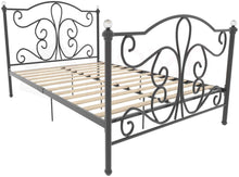 Load image into Gallery viewer, Vida Designs Chicago Small Double Bed, 4ft Bed Frame Metal Headboard High Foot End Black