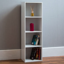 Load image into Gallery viewer, Vida Designs Oxford 4 Tier Cube Shelf White Wood Shelf Display