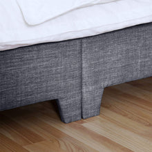 Load image into Gallery viewer, Vida Designs Victoria King Size Bed, 5 ft, Upholstered Fabric Headboard, Dark Grey Linen