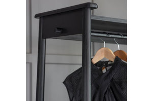 WYCOMBE OPEN WARDROBE BLACK W825 x D440 x H1740mm
