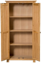 Load image into Gallery viewer, Hallowood Furniture Waverly Oak Cupboard 2 Door 3 Shelf Medium Cupboard