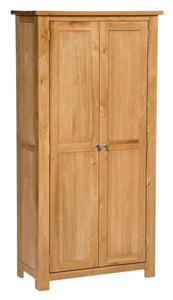 Hallowood Furniture Waverly Oak Cupboard 2 Door 3 Shelf Medium Cupboard