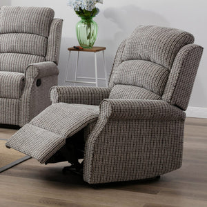 Windsor Reclining Armchair In Latte Fabric