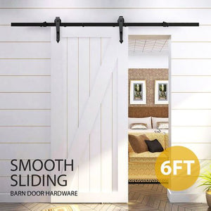 Yaheetech 6FT European Stainless Sliding Barn Wood Door Closet Hardware Track System Set
