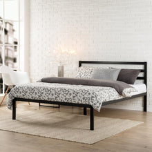 Load image into Gallery viewer, Zinus Mia Modern Studio 14 Inch Platform 1500H Metal Bed Frame With Headboard, double