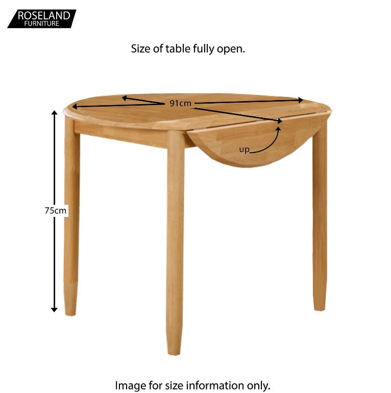 Roseland cologne round drop leaf table 91cm