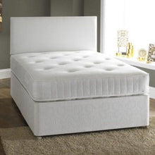 "Load image into Gallery viewer, double Ashtola Divan Bed base & Headboard  4,6"" mattress not included"