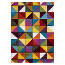 Load image into Gallery viewer, multi friese geometric triangle rug 160cm x 230cm