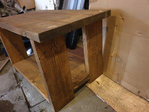 solid wood rustic table tv unit