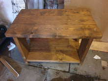 Load image into Gallery viewer, solid wood rustic table tv unit