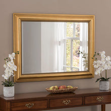 Load image into Gallery viewer, Yearn gold framed mirror 77 cm x 61 cm