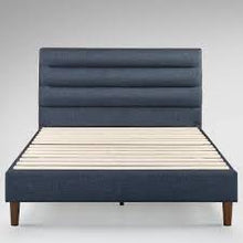 Load image into Gallery viewer, zinus kiernan Double Upholstered Platform Bed Frame Navy Blue