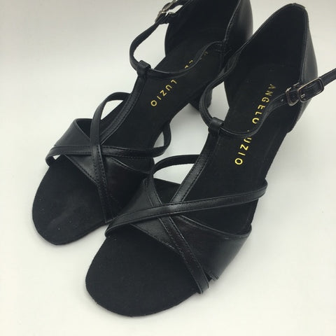 "2"" Heel T-strap ballroom Balllroom Shoe 107L - Final Sale"