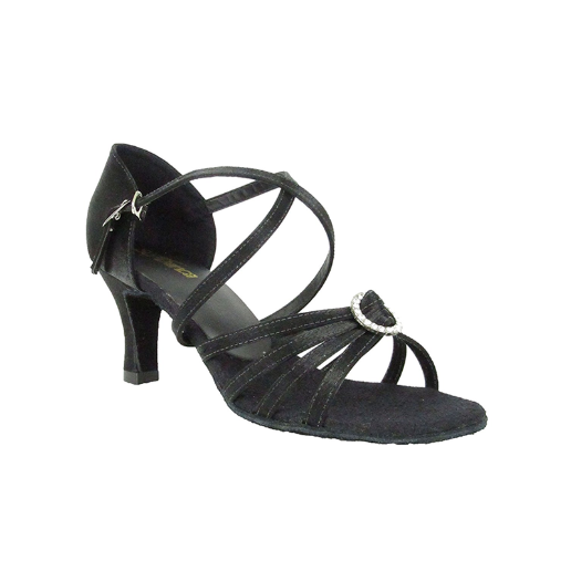 "2.5"" Heel Strappy Ballroom Shoe with Rhinestone Detail BL130 - Final Sale"