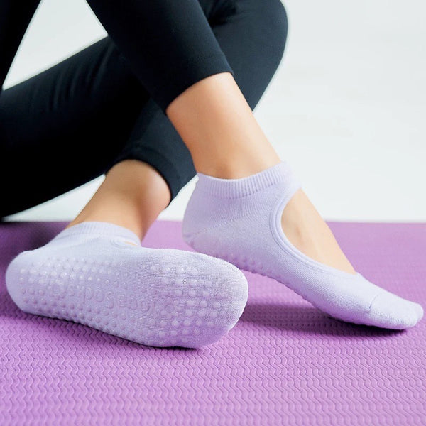 Womens High Quality Anti-Slip Breathable Grip Socks ACA-0821