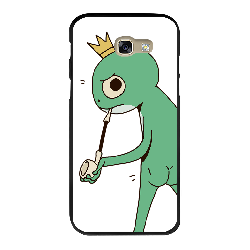 Mischievous Booty Frog Back Printed Black Hard Phone Case
