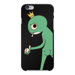 Load image into Gallery viewer, Mischievous Booty Frog Back Printed Black Hard Phone Case