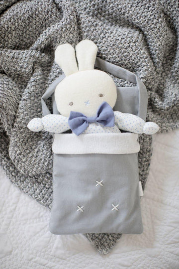 Baby Doll Carry Bag Grey Linen | Alimrose - Little Lights Co.