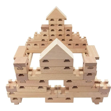 The Budding Builder Block Set - 42pcs | The Freckled Frog | Little Lights Co.