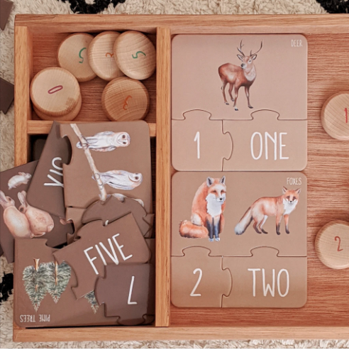 PRE ORDER - Modern Monty | Counting Puzzle - Woodland