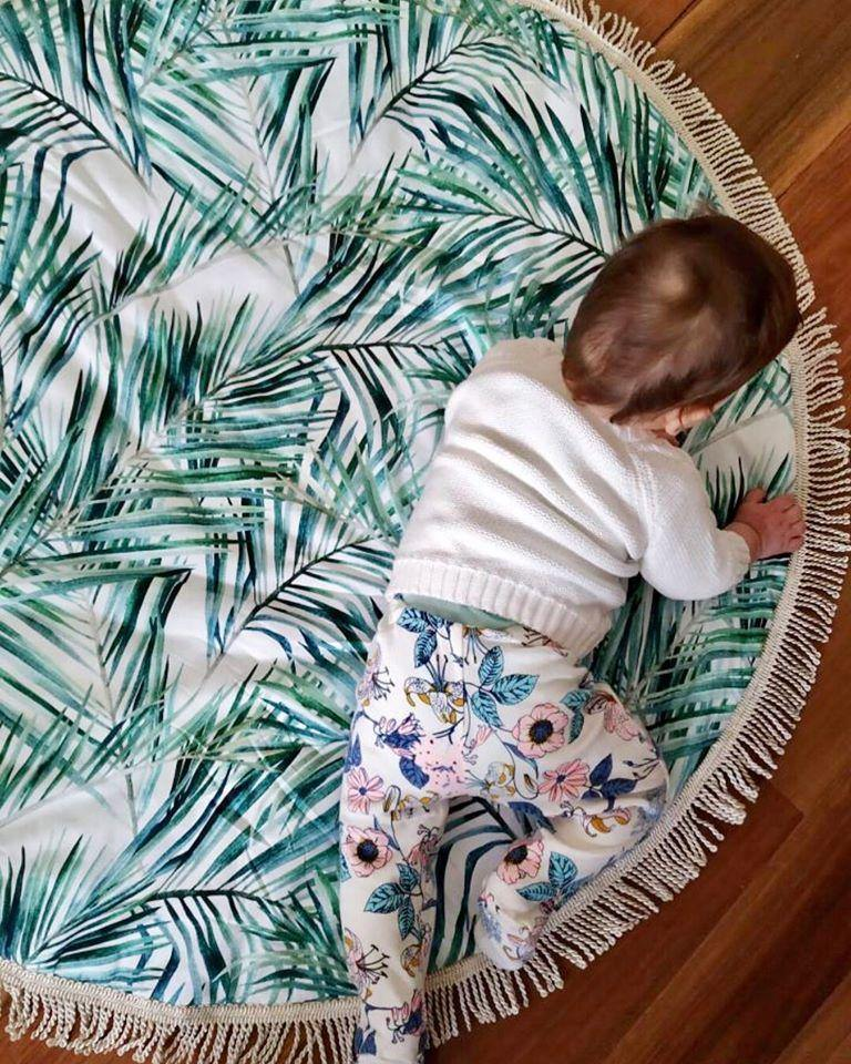 Luxe Tahitian Palm Playmat | Miss Angel Ilaria | Little Lights Co.
