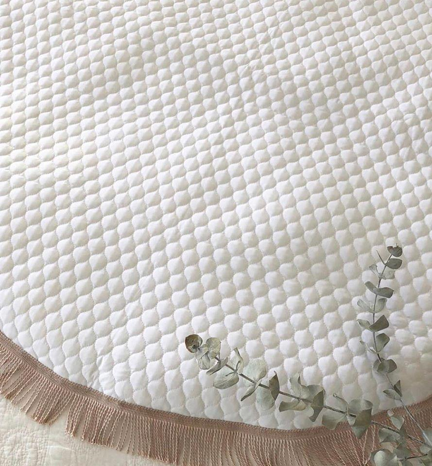 Luxe White Quilted Playmat | Miss Angel Ilaria | Little Lights Co.