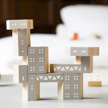 Blockitecture Brutalism Classic Set Building Blocks | Areaware - Little Lights Co.