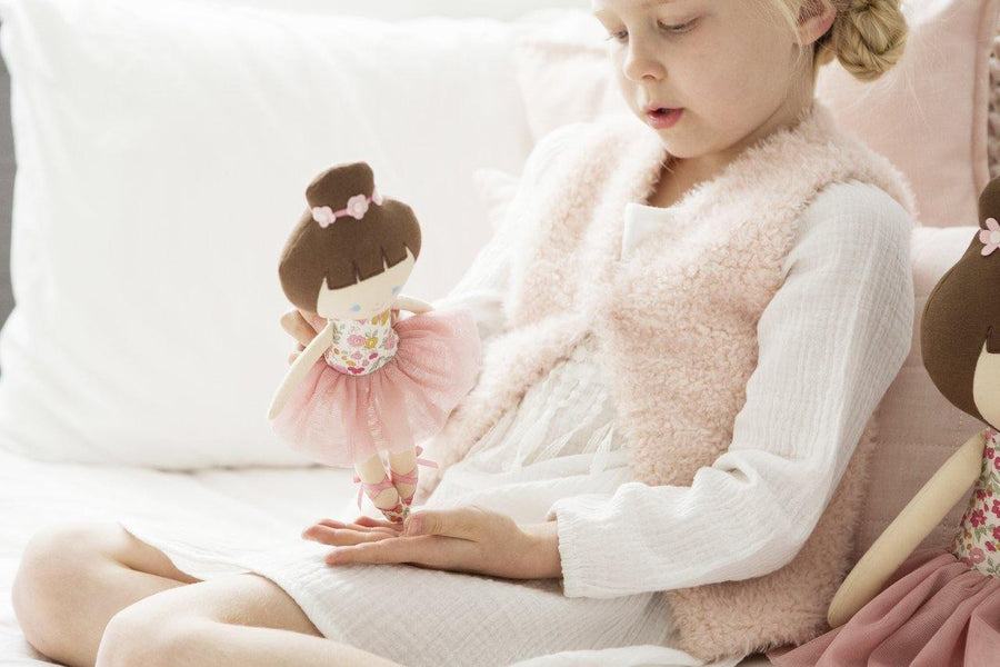 Alimrose | Baby Ballerina Doll - Rose Garden 25cm | Little Lights Co.