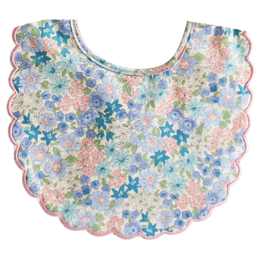 Scallop Bib - Liberty Blue | Alimrose | Little Lights Co.