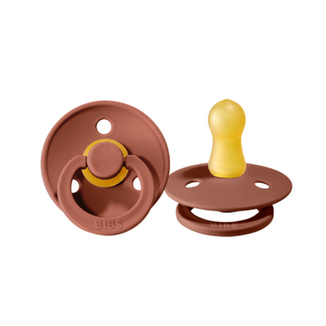 BIBS Pacifier Duo Pack - Wood Chuck - Size 2 | BIBS Dummies | Little Lights Co.