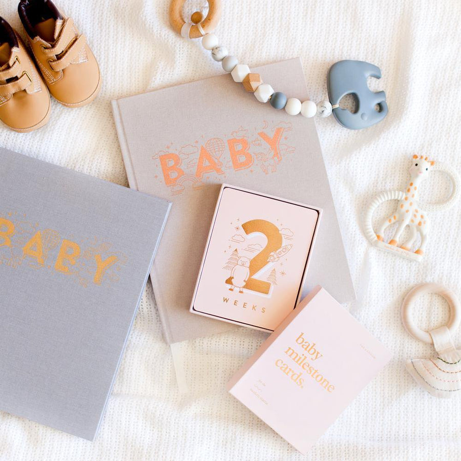 Baby Book - Grey | Fox & Fallow | Little Lights Co.