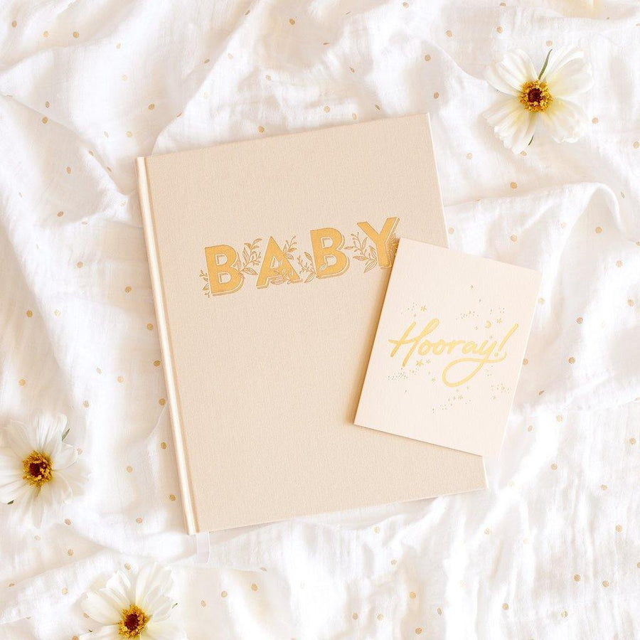 Baby Book - Buttermilk (Gender Neutral) | Fox & Fallow - Little Lights Co.