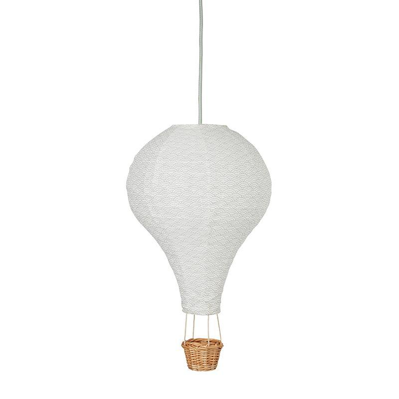 Air Balloon Lamp Shade, Grey Wave | CamCam | Little Lights Co.