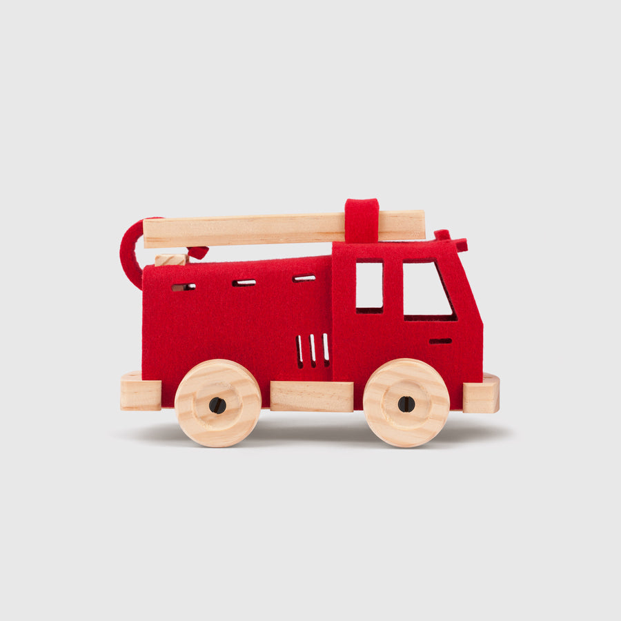 Mighty Mini Fire Engine | Woolkin | Little Lights Co.