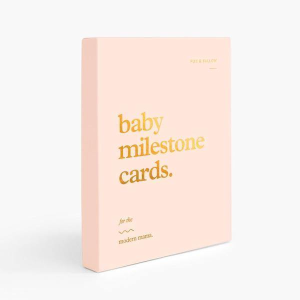 Baby Milestone Cards - Pink | Fox & Fallow | Little Lights Co.