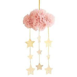 Alimrose - Tulle Cloud Mobile - Blush & Gold
