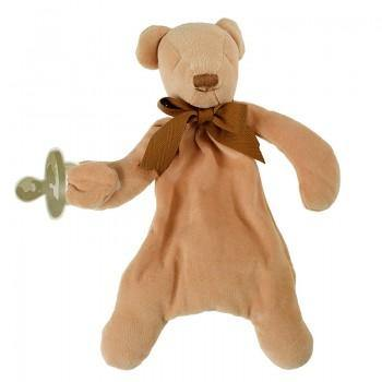Cubby the Bear Comforter - Organic Dummy Holder (unboxed) | Maud n Lil | Little Lights Co.