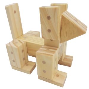 Magnetic Wooden Blocks - 30pcs | The Freckled Frog | Little Lights Co.
