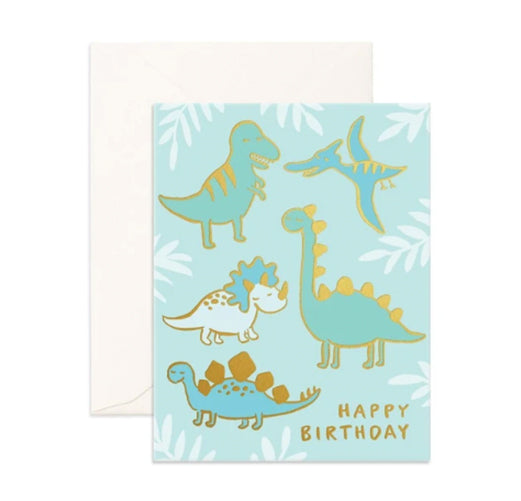 Happy Birthday Dino Card | Fox and Fallow - Little Lights Co.