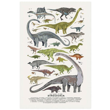 Dinosauria Print - Kelzuki | Little Lights Co.