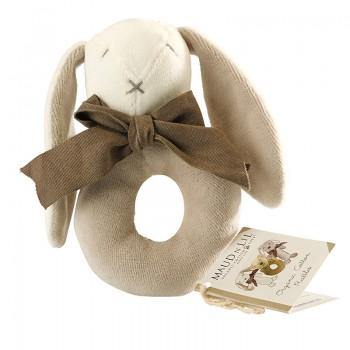 Ears the Bunny Baby Ring Rattle - Organic  | Maud n Lil - Little Lights Co.