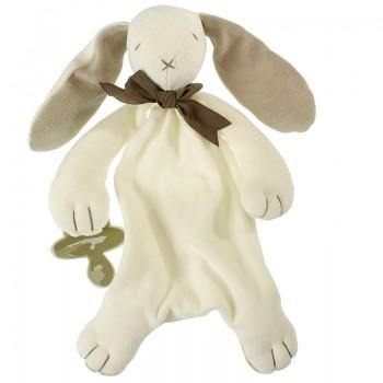 Ears the Bunny Comforter - Organic Dummy Holder (unboxed) | Maud n Lil | Little Lights Co.