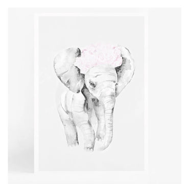 Baby Elephant A4 | Leden | Little Lights Co.