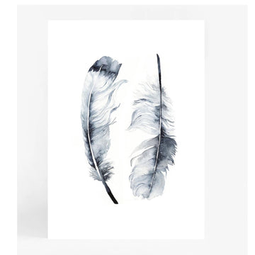 Twin Feathers A4 | Leden - Little Lights Co.