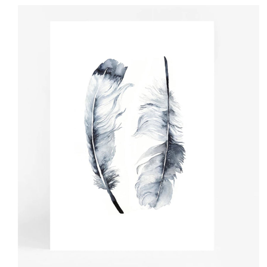 Twin Feathers A4 | Leden | Little Lights Co.