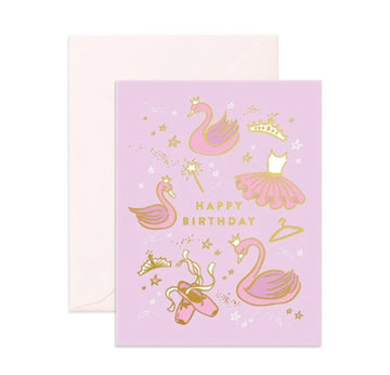 Happy Birthday Ballet Card | Fox and Fallow | Little Lights Co.