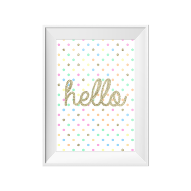Hello Print A4 - Little Lights Co.